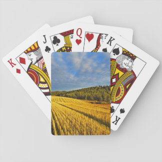 Wheat Field After Harvest Playing Cards