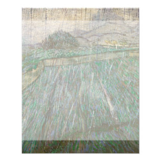 Wheat Field in Rain by Vincent Van Gogh 11.5 Cm X 14 Cm Flyer
