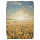 Wheat field on sunset iPad air cover