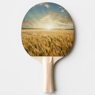 Wheat field on sunset ping pong paddle