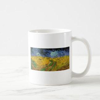 Wheat Field with Crows Basic White Mug