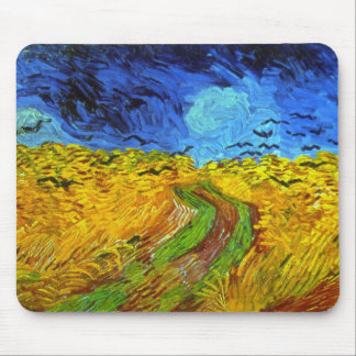 Wheat Field with Crows Van Gogh Fine Art Mouse Pad