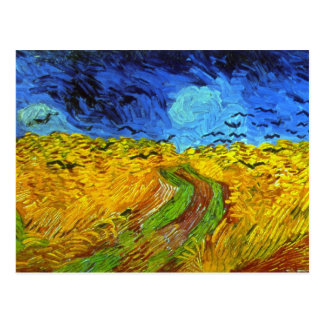 Wheat Field with Crows Van Gogh Fine Art Postcard