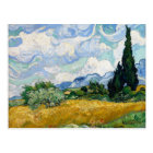 Wheat Field with Cypresses by Van Gogh Postcard