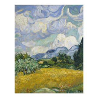 Wheat Field with Cypresses by Vincent van Gogh Flyers