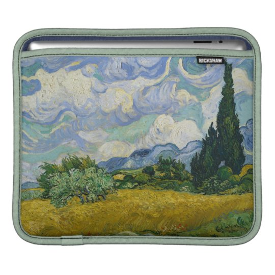 Wheat Field with Cypresses by Vincent van Gogh iPad Sleeve