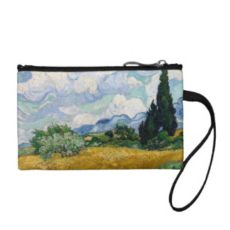 Wheat Field with Cypresses Key Coin Clutch Coin Purses