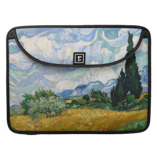 Wheat Field with Cypresses Macbook Pro Flap Sleeve