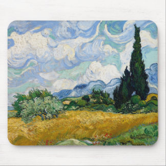 Wheat Field with Cypresses Mousepad