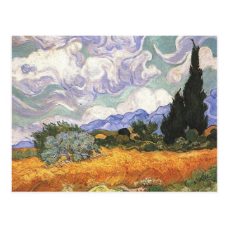 Wheat Field with Cypresses Postcards