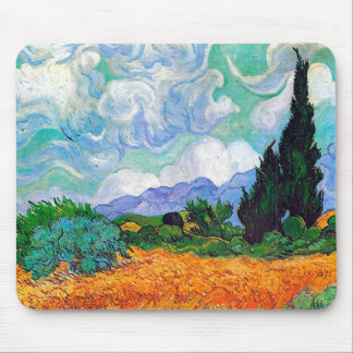 Wheat Field with Cypresses Van Gogh Fine Art Mouse Mat