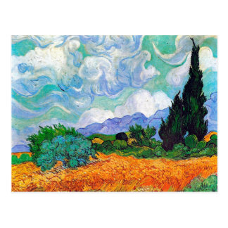 Wheat Field with Cypresses Van Gogh Fine Art Postcard