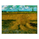 Wheat Field with Sheaves Van Gogh Fine Art Poster