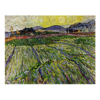 Wheat Fields by Van Gogh Postcard