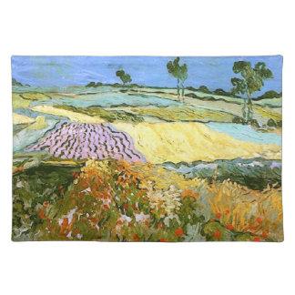 Wheat Fields Near Auvers Van Gogh Fine Art Placemats