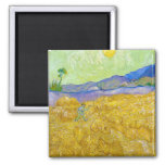 Wheat Fields with Reaper at Sunrise Van Gogh