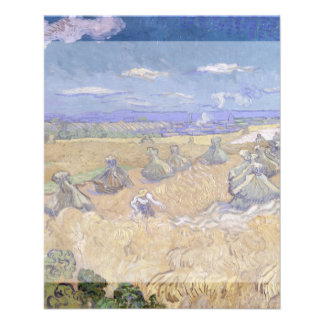 Wheat Fields with Reaper by Vincent Van Gogh 11.5 Cm X 14 Cm Flyer