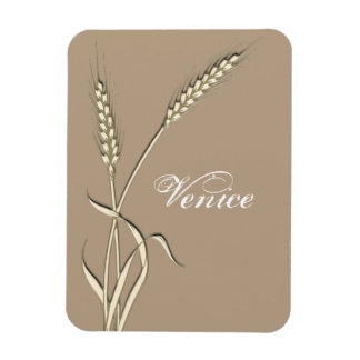 wheat grass ivory brown weddings rectangular photo magnet