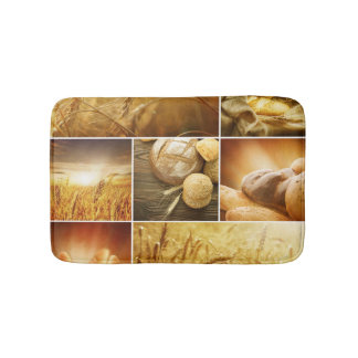 Wheat.Harvest concepts.Cereal collage Bath Mat