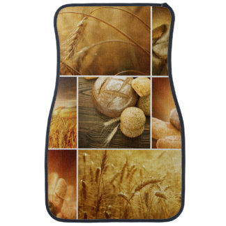 Wheat.Harvest concepts.Cereal collage Car Mat