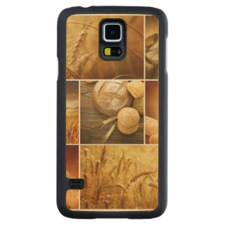 Wheat.Harvest concepts.Cereal collage Carved Maple Galaxy S5 Case