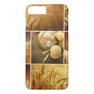 Wheat.Harvest concepts.Cereal collage iPhone 8 Plus/7 Plus Case