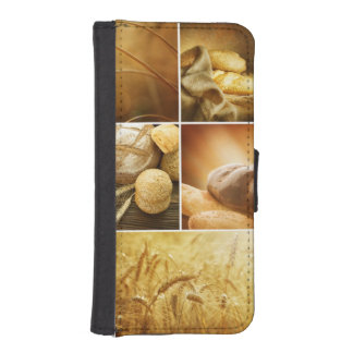 Wheat.Harvest concepts.Cereal collage iPhone SE/5/5s Wallet Case