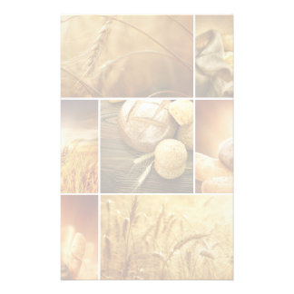 Wheat.Harvest concepts.Cereal collage Stationery