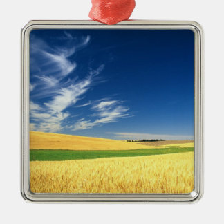 Wheat harvest on the Palouse in Eastern Christmas Ornament