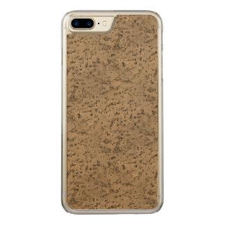 Wheat Natural Cork Bark Look Wood Grain Carved iPhone 7 Plus Case