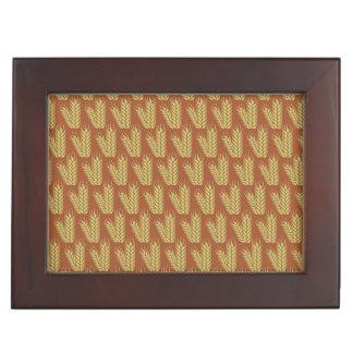 Wheat pattern custom keepsake box