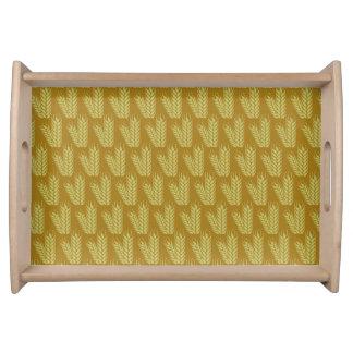 Wheat pattern serving tray