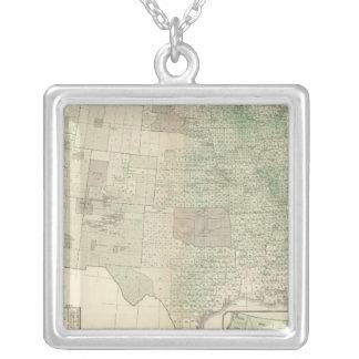 Wheat per sq mile silver plated necklace