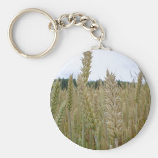 Wheat Plant Seeds Basic Round Button Key Ring