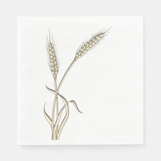 Wheat single grass PERSONALIZE Disposable Napkins