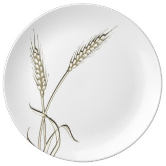 Wheat single grass PERSONALIZE Porcelain Plates