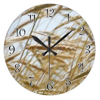 Wheat & Sky Clock