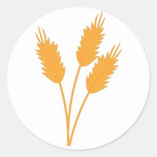 Wheat Stalk Round Sticker