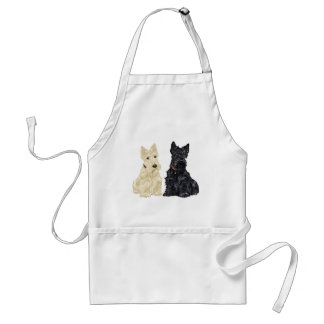 Wheaten and Black Scottish Terriers Aprons