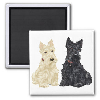 Wheaten and Black Scottish Terriers Magnet