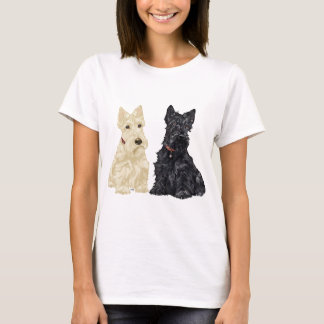 Wheaten and Black Scottish Terriers T-Shirt