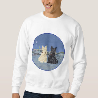 Wheaten Black Scotties Christmas Sweatshirt