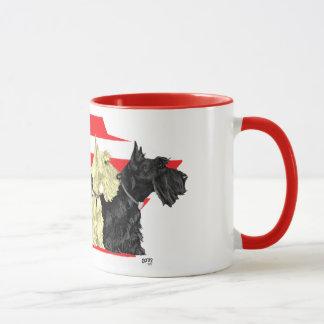 Wheaten & Black Scottish Terriers