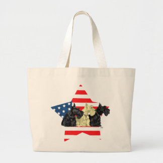 Wheaten & Black Scottish Terriers Tote Bags