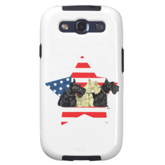 Wheaten & Black Scottish Terriers Galaxy S3 Cover