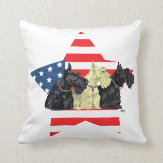 Wheaten Black Scottish Terriers Throw Pillow
