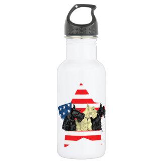 Wheaten & Black Scottish Terriers 532 Ml Water Bottle