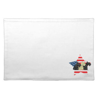 Wheaten & Black Scottish Terriers Placemats