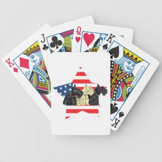 Wheaten & Black Scottish Terriers Poker Deck