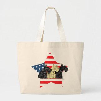 Wheaten & Black Scottish Terriers Tote Bags